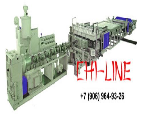Экструзионная линия для производства корковых вспенных плит из ПВХ