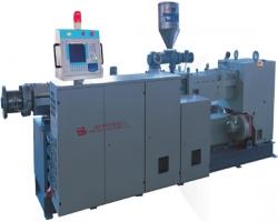 Параллельный двухшнековый экструдер SHJ-75, производительность до 550 кг/час, 110 кВт