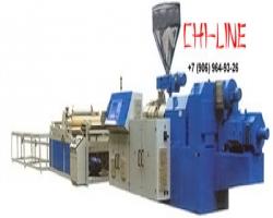 Экструзионная линия SJ-120/30 для производства сотового листа из ПС, ПП, ПЭ и ПВХ, производительность оборудования 500 кг/час
