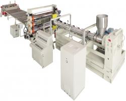 Экструзионная линия SJ-150/30 для производства сотового листа из ПС, ПП, ПЭ и ПВХ, производительность оборудования 600 кг/час